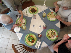 Day 169:  supper in the round (Mark.Swanson) Tags: kitchen table plates tacos