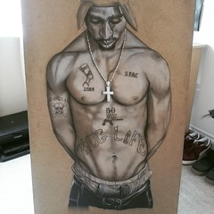 Makaveli (Maxy.) Tags: original music art illustration artwork king drawing board 2pac chip hiphop lifesize rapper godfather tupac thug cleopatra thuglife makaveli 2die4