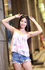 DP1U1402 (c0466art) Tags: blue portrait baby hot girl beautiful smile face female night canon photo nice eyes asia long pretty pants jean legs sweet gorgeous taiwan short figure attractive charming 1dx c0466art