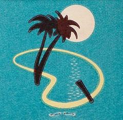 Jamaica Inn Corona Del Mar Matchbook Cover Pool Illustration (hmdavid) Tags: california art pool illustration vintage 1950s coronadelmar matchbook midcentury jamaicainn matchcover