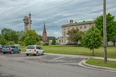 Tower Of History, Sault Ste. Marie, MI, June, 2016 (Norm Powell (napowell30d)) Tags: travel up architecture landscape landscapes downtown michigan fineart architectural upperpeninsula minimalist saultstemarie yooper quotidian towerofhistory puremichigan