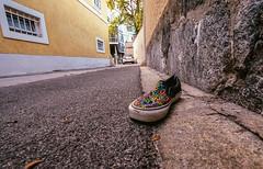Peace on Earth (Laurent Moose) Tags: shoe peace graz perspective city uww weitwinkel wideangle uwa street