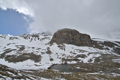A storm from the North (Yaxara) Tags: sky mountain lake snow france water clouds trekking landscape outdoor hiking glacial