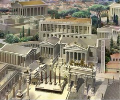 Ancient Rome. Aerial view of the Roman Forum looking SW towards the Tabularium and Temple of Jupiter, c. 360 CE // by Gilbert Gorski (mike catalonian) Tags: romanforum ancientrome templeofjupiter tabularium 360ce ivcenturyad