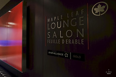Maple Leaf Lounge branding (A. Wee) Tags: toronto canada airport lounge mapleleaf yyz aircanada