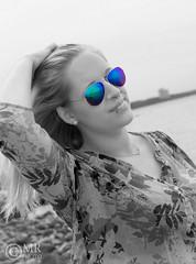 J_S_5c (miraasch) Tags: portrait bw reflection beach sunglasses shoot outdoor shooting schwarzweiss
