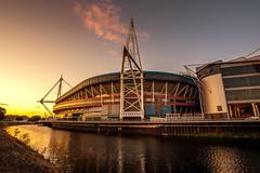 Cardiff Millennium Stadium (technodean2000) Tags: world uk sunset cup skyline wales architecture night football nikon rugby stadium south cardiff ground millennium d610 d5200