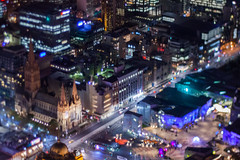 St Paul's Cathedral (daniellih) Tags: road street city light urban building tower june st modern night landscape downtown cityscape cathedral metro australia melbourne pauls victoria cbd nightview stpaulscathedral metropolitan eureka skydeck urbanscape eurekatower 2016 canonbody businessdistrict nikonlens eurekaskydeck freelens freelensing daniellih