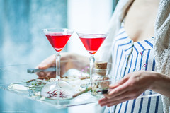 Cocktail (yana_davydova) Tags: red food table drink dream cocktail seashell decor conchiglia tabledecor