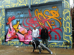 """eL Seed, Jaye & Meres @ 5Pointz • <a style=""""font-size:0.8em;"""" href=""""http://www.flickr.com/photos/53128580@N00/8725342026/"""" target=""""_blank"""">View on Flickr</a>"""