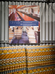 1970s Upholstery (Night Owl City) Tags: california usa seat amtrak 1970s fullerton upholstery superliner fullertonrailroaddays exhibittrain amtrakupholsteryporn