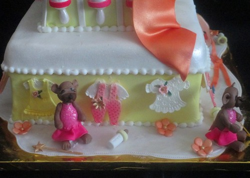 Edible Baby Clothes And Baby Bears In Tutus Close Up