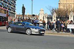 Aston Martin DB9 (SemLaming) Tags: england london cars car design nice rich fast bigben exotic parliamentsquare sliver luxury supercar astonmartin db9 enlgish
