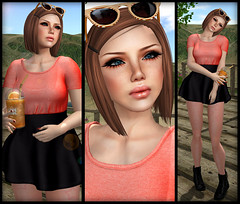 Ginger Snaps - NEW - Villena & Elikatira (Ginger Krokus) Tags: new summer cute fashion hair 3d spring yummy clothing dress mesh style sl secondlife virtual gingersnaps styling cutesy villena theboutique lovesoul monso deadapples hollipocket glamaffair elikatira gingerkrokus