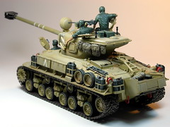 Academy  135 M-51 Super Sherman  Built in 2002  Photo Retaken 3 (My Toy Museum) Tags: tank super kit 135 academy sherman