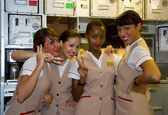 Emirates hostess (Osdu) Tags: people girl women flight emirates hostess boeing stewardess flightattendant boeing777 emiratesairlines stewardes htessedelair  777