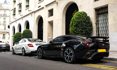 Aston Martin V12 Zagato (ExoticCarsParis) Tags: auto black paris france car sport noir martin 5 sony voiture rare supercar aston v12 zagato nex