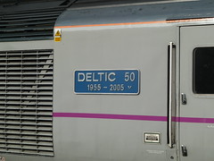 43367 Deltic 50 @ Stevenage (gooey_lewy) Tags: 2005 1955 speed train coast high diesel loco class east locomotive 50 stevenage 43 nameplate hst deltic 43367