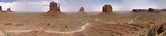 Monument Valley panorama 062903 (Brian Reynolds) Tags: 2003 arizona sky panorama clouds landscape butte desert monumentvalley mesa americansouthwest westmitten bigchief merrickbutte mitchellmesa sentinalmesa
