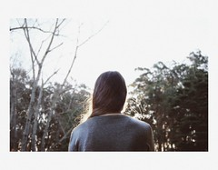 you said you always had my back (stardust) Tags: parque trees light sunset laura luz atardecer back woods arboles grain espalda ruido