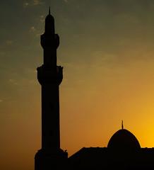 "SALAM is ""Peace (Arabic)"" (A_bandaying) Tags: sunset gulf islam mosque doha qatar"