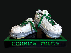 Coral's Kicks (Siercon and Coral) Tags: green shoes lego kicks chucks laces allstars tennisshoes moc ironbuilder