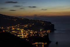 Costiera Sorrentina- Italy (Domenico Cirillo) Tags: longexposure sunset sea sky italy color night canon eos lights coast italia t3i costierasorrentina 600d desdomos