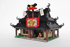 Ninjago - Kai's Blacksmith Shop Exterior (Imagine) Tags: architecture training lego ninja dojo commission hinged playable foitsop imaginerigney artifexcreation ninjago senseiwu kaisblacksmithshop