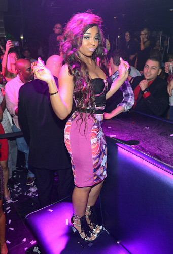 Ashanti looking extra sexy at Moon Nightclub