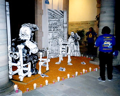 """""""JG Posada en su taller"""" en la Alndiga (El Volador S.A.) Tags: mexico quijote posada ofrendas volador cartoneria elvolador"""