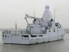 PCU (HNLMS) Groningen P843 (1) @ Gallions Reach 14-09-13 (AJBC_1) Tags: riverthames gallionsreach london netherlandsnavy offshorepatrolvessel pcugroningen p843 dsei2013 warship ©ajc dlrblog londonsroyaldocks newham military ship boat vessel opv patrolboat excelexhibitioncentre londonboroughofnewham eastlondon docklands england unitedkingdom uk navy navalvessel northwoolwich britisharmedforces ©ajc ajbc1