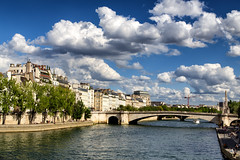 River clouds (Travis Duke) Tags: bridge paris france clouds canon îledefrance 6d impressedbeauty