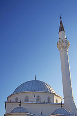Izmir, Turkey (Meylin Bayryamali) Tags: blue sky white hot building canon turkey lens religious day muslim islam religion mosque christian clear christianity turkish izmir 50d 2070
