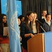 2013 Day of the Girl - Young Diplomats at podium