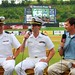 090901-N-2903M-017 , KNOXVILLE, TN.-- LtCom Kevin West and Lt Justin Hadley of the Navy Office of Community Outreach answeres question about Navy Week from Broadcaster Mick Gillispie of the Smokies Radio Network monday 1st September, 2009. Knoxville Navy