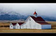 Beckwith Ranch, Westcliffe, Colorado (RondaKimbrow) Tags: ranch red white storm mountains nature beauty barn colorado farm country scenic destination westcliffe sangredecristo beckwithranch whitebarnwithredroof