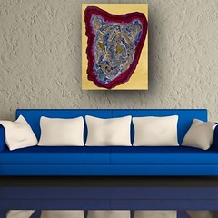 Blue & Gray Cougar - Abstract Poured Painting (lanes.paul120) Tags: abstractseascape abstractbutterflies abstractpouredpainting abstractpouredpaintings
