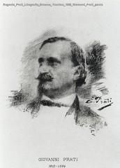 Eugenio Prati Litografia Strenna Trentina 1892 Giovanni Prati poeta