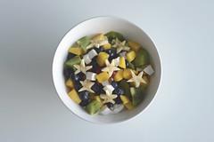 Breakfast (Emma McIntaggart) Tags: morning food fruit breakfast star coconut pomegranate bowl banana mango yoghurt kiwi blueberries
