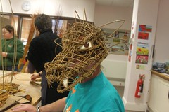 Gary Tomlinson makes a mask from willow. (Blind Veterans UK) Tags: art blind crafts willow weaving llandudno veterans armedforces blindness sightloss blindveteransuk