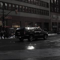 Day 56 - Feb 12 (Reef Loretto) Tags: street new york city nyc black chevrolet car driving suburban tahoe wells chevy suv fargo
