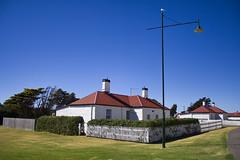 Sea Pilot Station with Seagull (Poppy GaGa) Tags: house australia georgetown historic tasmania clearsky pilotstation dwelling seapilot