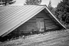 Top Floor (k009034) Tags: door travel trees roof summer blackandwhite building beautiful grass canon finland photography eos 350d wooden triangle angle low rebelxt beautifulearth haapavesi