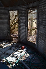 All That Remains (tim.perdue) Tags: door old light shadow abandoned trash rural that all decay farm empty shed structure storage silo doorway forgotten vacant dor remains