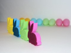 Extreme Bunnies (Lynzeangel) Tags: pink blue color rabbit bunny green bunnies yellow easter spring extreme egg eggs rabbits odc