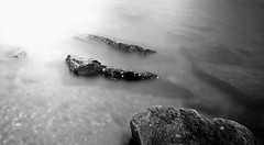 Submerged (fidget65) Tags: light bw water wales dark rocks filter submerged 110nd