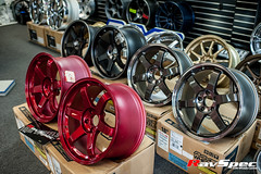 """VOLK Racing TE37SL 18x9.5 +22 Hyper Red • <a style=""""font-size:0.8em;"""" href=""""http://www.flickr.com/photos/64399356@N08/12914163944/"""" target=""""_blank"""">View on Flickr</a>"""