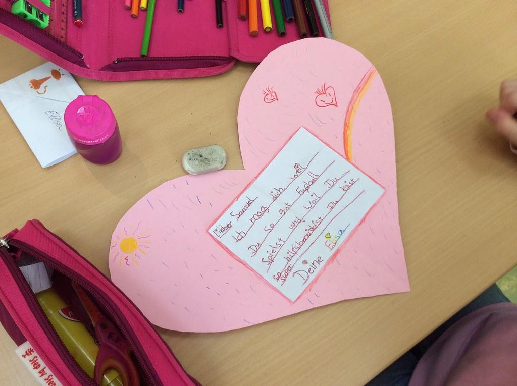 Valentinstag Flex C (ShanghAri) Tags: Kunst Karte Deutsch Schreiben Basteln  Valentinstag Herzen Grundschule