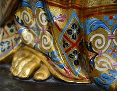 Golden Foot (pjpink) Tags: italy rome art church religious march spring catholic interior basilica ornate 2014 santamariamaggiore pjpink