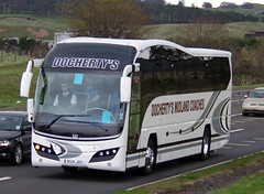 Docherty's Midland Coaches Volvo Plaxton Elite BS14JDS (andyflyer) Tags: bus volvo coaches blackford a9 coachtravel plaxtonelite dochertysmidlandcoaches bs14jds